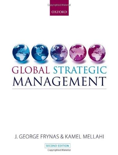 Global Strategic Management: Frynas, Jedrzej George