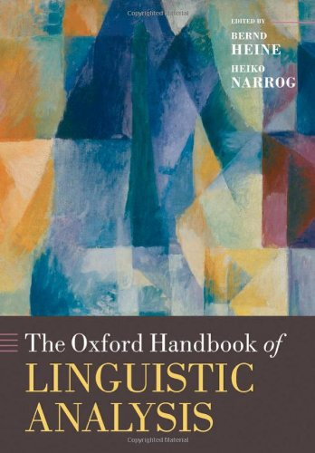 9780199544004: The Oxford Handbook of Linguistic Analysis