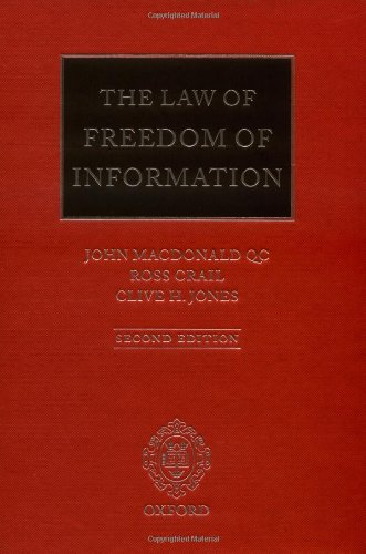 9780199544356: The Law of Freedom of Information