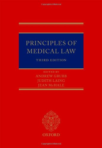 9780199544400: Principles of Medical Law