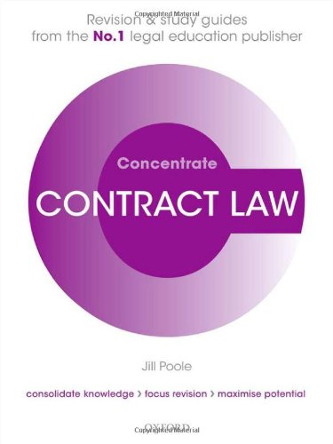 9780199544578: Contract Law Concentrate (Check info AND delete this occurrence: |c CONC |t Concentrate)