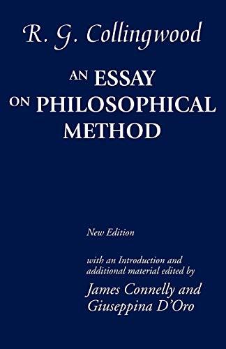 9780199544936: An Essay on Philosophical Method