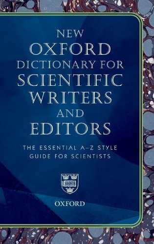 9780199545155: Oxford Dictionary for Scientific Writers and Editors