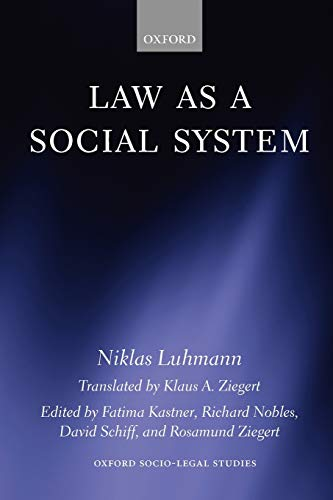 9780199546121: Law as a Social System (Oxford Socio-Legal Studies)