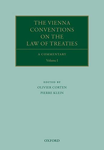 9780199546640: 1-2: The Vienna Conventions on the Law of Treaties: A Commentary (Oxford Commentaries on International Law)