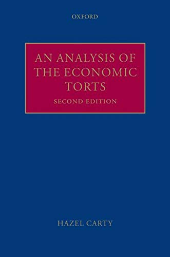 9780199546749: An Analysis of the Economic Torts