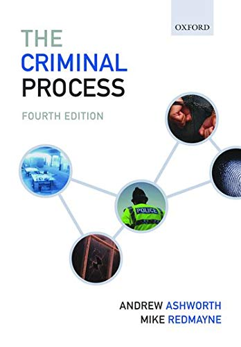 9780199547289: The Criminal Process