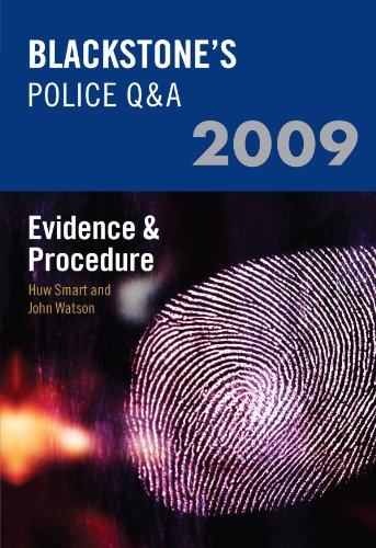 9780199547692: Blackstone's Police Q&A: Evidence and Procedure 2009