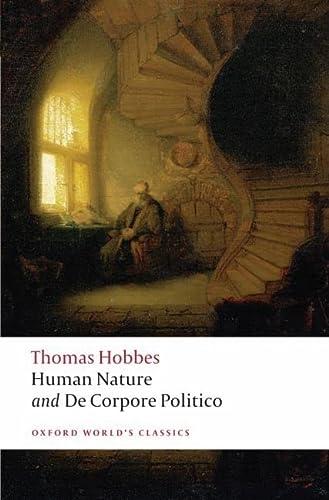 9780199549702: Human Nature and De Corpore Politico (Oxford World's Classics) (Pt. 1)