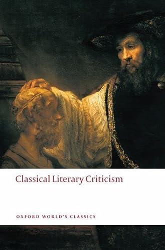 9780199549818: Classical Literary Criticism (Oxford World's Classics)