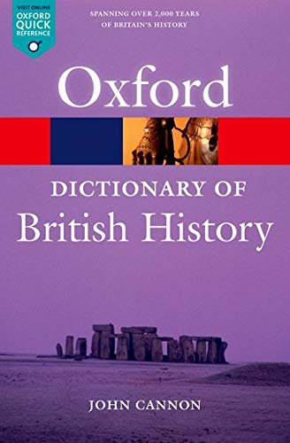 9780199550371: A Dictionary of British History 2/e (Oxford Quick Reference)