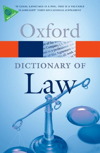 9780199551248: A Dictionary of Law (Oxford Quick Reference)