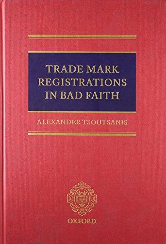 Trade Mark Registrations in Bad Faith: Alexander Tsoutsanis