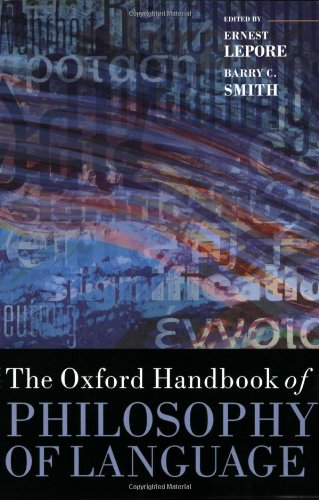 9780199552238: The Oxford Handbook of Philosophy of Language
