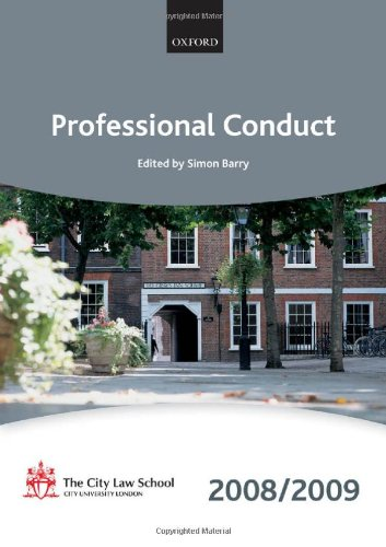 9780199553488: Professional Conduct 2008-2009: 2008 Edition (Blackstone Bar Manual)