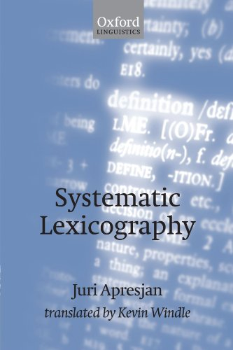 9780199554256: Systematic Lexicography (Oxford Linguistics)