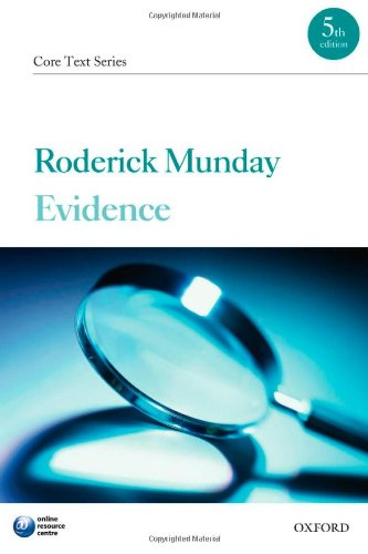 9780199554331: Evidence Core Text (Core Texts Series)