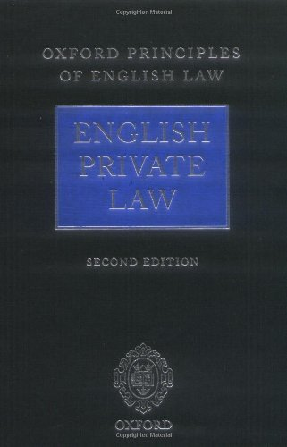 9780199554508: Oxford Principles of English Law: English Private Law (2nd ed) and English Public Law (2nd ed)