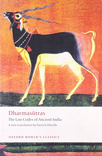 9780199555376: Dharmasutras: The Law Codes of Ancient India (Oxford World's Classics)