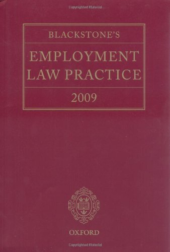 9780199556618: Blackstone's Employment Law Practice 2009