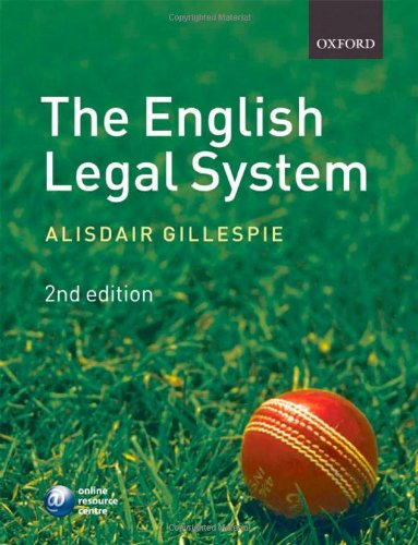 9780199556625: The English Legal System