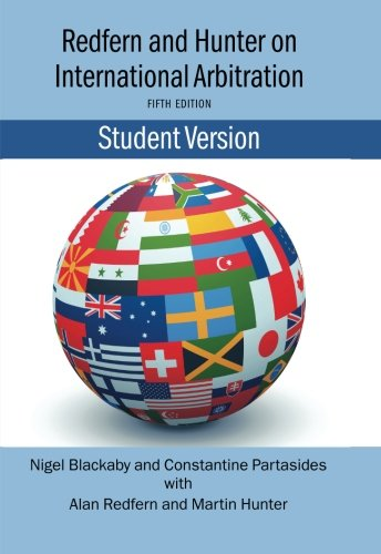 9780199557196: Redfern and Hunter on International Arbitration-Student Version