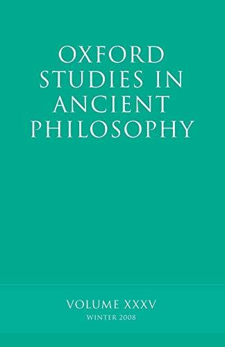 9780199557806: Oxford Studies in Ancient Philosophy: Volume 35