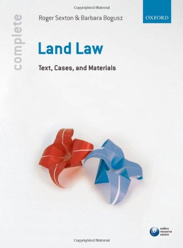 9780199558544: Complete Land Law: Text, Cases and Materials
