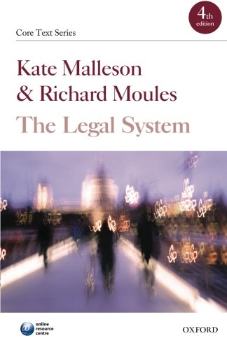 The Legal System (Core Text Series): Malleson, Kate, Moules,