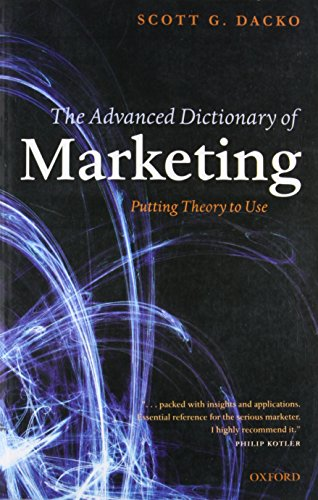 9780199560196: Advanced Dictionary Of Marketing