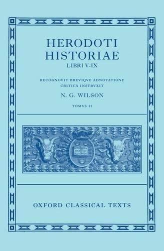 9780199560714: Herodoti Historiae: Libri V-IX: 5-9