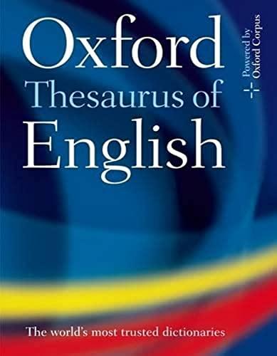 9780199560813: Oxford Thesaurus of English |s au