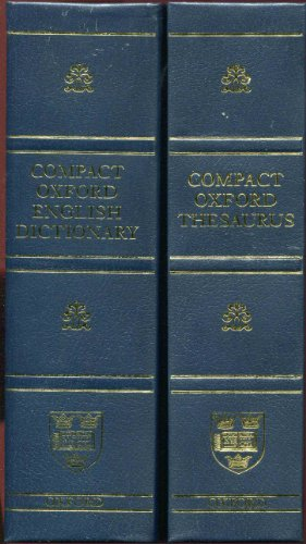 9780199561742: Compact Oxford English Dictionary (Third Edition Revised)