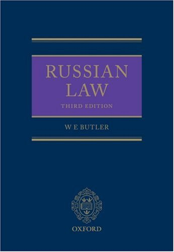 Russian Law (Hardback): William Butler