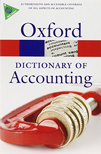 9780199563050: A Dictionary of Accounting (Oxford Quick Reference)