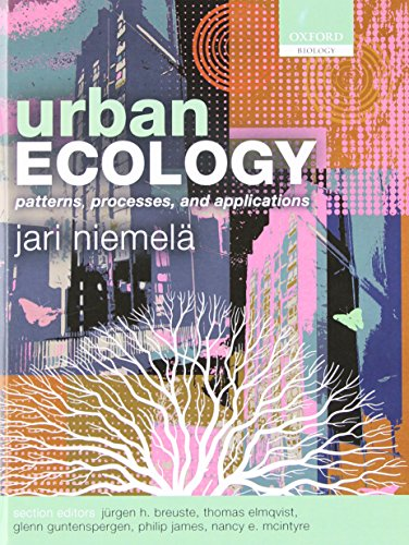 9780199563562: Urban Ecology: Patterns, Processes, and Applications