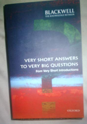 9780199563579: Very Short Answers to Very Big Questions