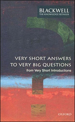 9780199563586: Very Short Answers to Very Big Questions