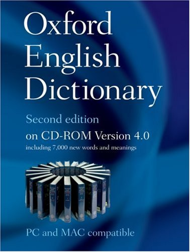 9780199563838: The Oxford English Dictionary Second Edition on CD-ROM Version 4.0: Windows/Mac Individual User Version (CD Rom Windows)