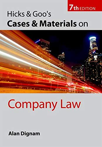 9780199564293: Hicks & Goo's Cases and Materials on Company Law