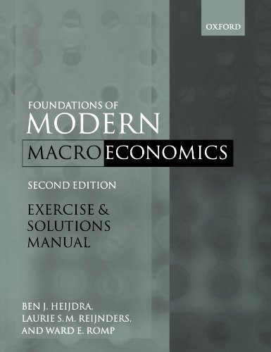 9780199564408: Exercise and Solutions Manual to Accompany Foundations of Modern Macroeconomics, Second Edition