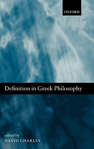 9780199564453: Definition in Greek Philosophy