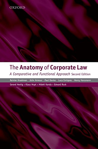 9780199565832: The Anatomy of Corporate Law: A Comparative and Functional Approach, Second Edition