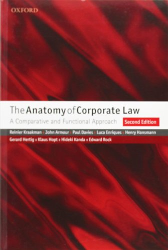 9780199565849: The Anatomy of Corporate Law: A Comparative and Functional Approach