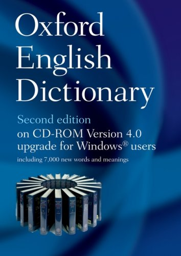 Oxford English Dictionary on CD ROM v4.0: Version 4.0