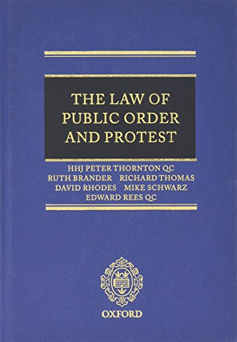 9780199566143: The Law of Public Order and Protest