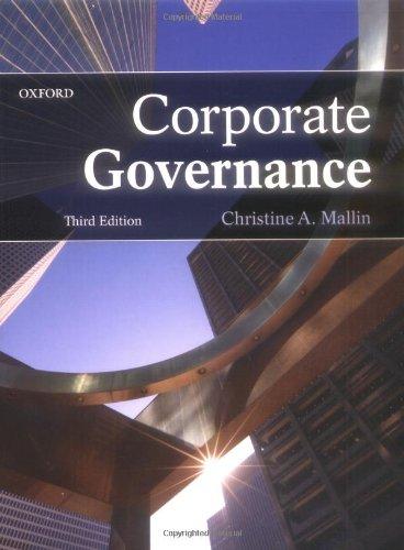 9780199566457: Corporate Governance