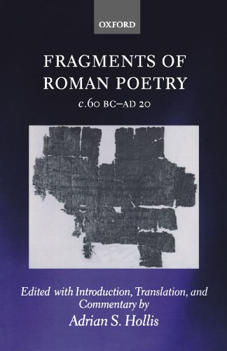 9780199567836: Fragments of Roman Poetry c.60 BC-AD 20