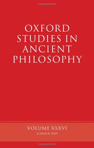 9780199568109: Oxford Studies in Ancient Philosophy: Volume 36 (v. 36)