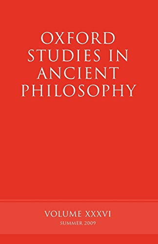9780199568116: Oxford Studies in Ancient Philosophy: Volume 36